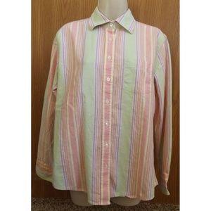Vertical Striped Oxford Button Down Shirt